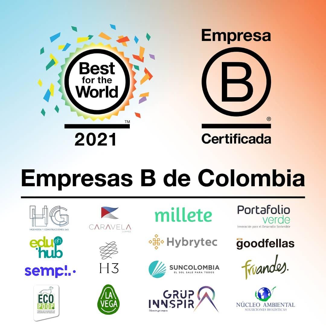 Portafolio Verde reconocida en Best For The World 2021